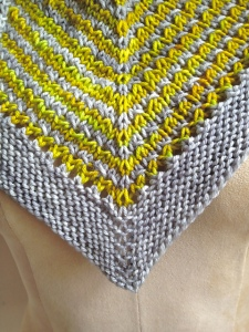 Great Divide Shawl Detail by Michele Brown