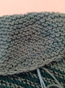 Be careful that the needle and yarn do not show on the right side