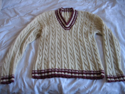 Knitting Pattern For Cricket Sweater : Tennis Sweater iKnit2Purl2